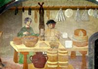 Sausage and Cheese Sellers (fresco). Artist: Itali