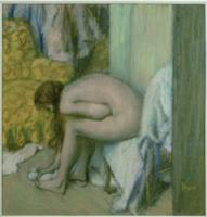 After the Bath, Woman Drying her Left Foot, 1886 (