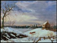 Snow scene, New England. Artist: American School,