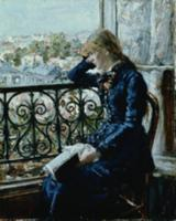 At the Window, 1881 (panel). Artist: Heyerdahl, Ha