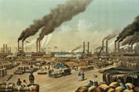 The Levee - New Orleans, 1884 (litho). Artist: Cur