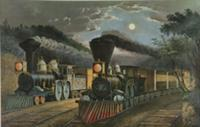 The Lightning Express Trains, 1863 (litho). Artist