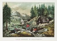 Goldmining in California, 1871 (litho). Artist: Cu