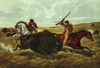 Life on the Prairie - the Buffalo Hunt, 1862 (lith