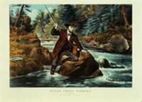 Brook Trout Fishing - An Anxious Moment, 1862 (lit