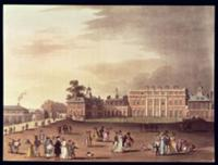 Queen's Palace, St. James's Park, from Ackermann's