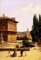 By the Pitti Palace, Florence. Artist: Brandeis, A