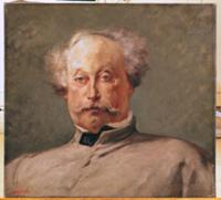 Portrait of Alexandre Dumas fils (1824-95) (oil on
