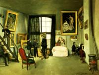 The Artist's Studio, 1870 (oil on canvas). Artist: