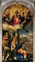 Virgin and Child with angel musicians and Saints (