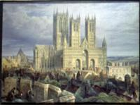 Lincoln Cathedral. Artist: Mackenzie, Frederick (c