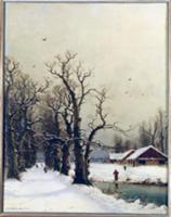 Winter scene. Artist: Christiansen, Nils Hans (lat