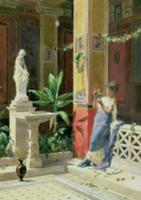 In a Courtyard in Pompeii, 1878 (pencil & w/c on p