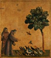 St. Francis of Assisi preaching to the birds (oil