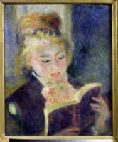 Girl Reading, 1874 (oil on canvas). Artist: Renoir