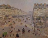 The Avenue de L'Opera, Paris, c.1880 (oil on canva