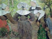 Four Breton Women, 1886 (oil on canvas). Artist: G