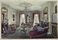 Interior of a drawing room in a town house. Artist