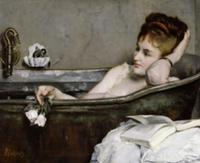 The Bath, c.1867 (oil on canvas). Artist: Stevens,