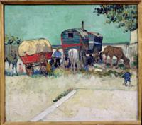 The Caravans, Gypsy Encampment near Arles, 1888 (o