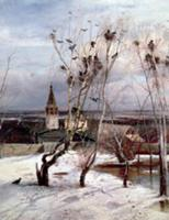The Rooks have Returned, 1871 (oil on canvas). Art