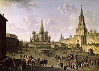 Red Square, Moscow, 1801 (oil on canvas). Artist: