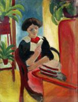 Elizabeth Reading. Artist: Macke, August (1887-191