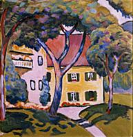 House in a Landscape. Artist: Macke, August (1887-