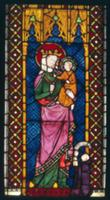 Stained Glass Window Depicting Madonna and Child f