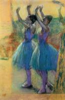 Two Blue Dancers (pastel on paper). Artist: Degas,