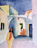 A Glance Down an Alley (w/c). Artist: Macke, Augus