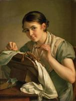 The Lacemaker, 1823 (oil on canvas). Artist: Tropi
