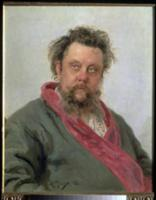Portrait of Modest Petrovich Moussorgsky (1839-81)