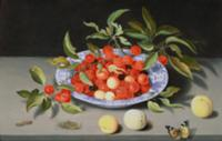 Still Life of Cherries and Peaches. Artist: Ast, B