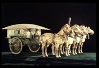 Terracotta Army, Qin Dynasty, 210 BC. horses and c