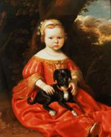 Portrait of a Girl with a Dog. Artist: Cuyp, Jacob