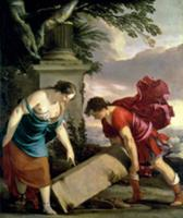 Theseus and his Mother Aethra (oil on canvas). Art