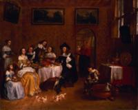 A Noble Family Dining. Artist: Tilborgh, Gillis va