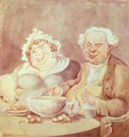 Gourmets (litho). Artist: Rowlandson, Thomas (1756