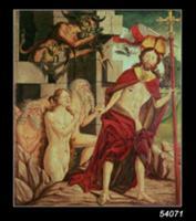Christ in Hell (oil on panel). Artist: Pacher, Fri