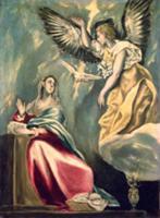 The Annunciation. Artist: Greco, El (Domenico Theo