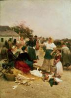 The Poultry Market, 1885. Artist: Deak Ebner, Lajo