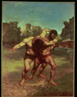 The Wrestlers, 1853. Artist: Courbet, Gustave (181