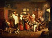 Peasant Wedding. Artist: Cleve, Maerten van (1527-
