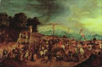 The Crucifixion. Artist: Brueghel, Pieter the Youn