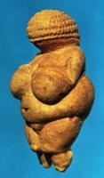 The Venus of Willendorf, side view of female figur