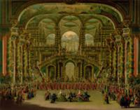 A Dance in a Baroque Rococo Palace (oil on canvas)