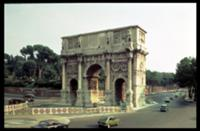 The Arch of Constantine from the North West, Rome.