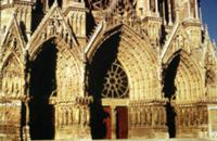 View of the West Front portals, begun in 1231 and
