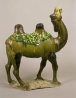 Pottery Chinese wailing camel, T'ang Dynasty, 8th